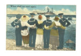 "Postcard, ""When shall we meet again,"" addressed to Warren McNeill, Sept. 14, 1918"
