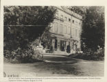 Entrance of Couthove-Chateau, headquarters of the Fifty-ninth Brigade, Thirtieth Division,...