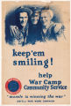 Keep 'em smiling! War Camp Community Service