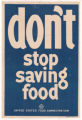 Don't Stop Saving Food