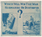 Which Will Win the War--Submarine or Destroyer?
