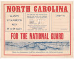 North Carolina Wants Unmarried Men 18 to 45 for the National Guard