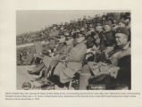 Spectators at the Second Army Corps field meet boxing bout. Near Corbie, Somme, France, November...