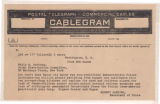 American Jewish Joint Distribution Committee Cablegram
