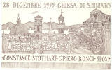 "Greeting Card: ""28 December 1955 Chiesa Di S. Miniato"""
