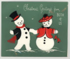 "Greeting Card: ""Christmas greetings from both of us"""