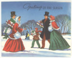 "Greeting Card: ""Greetings of the season"""
