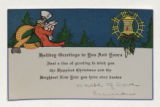 "Greeting Card: ""Holiday greetings to you and yours"""