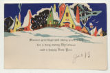 "Greeting Card: ""Sincere greetings and every good wish for a merry Christmas and a happy New Year."""