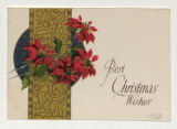 "Greeting Card: ""Best Christmas Wishes"""