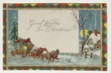 "Greeting Card: ""Good Wishes for Christmas."""