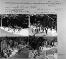 "Contact sheet with images of ""Unto these Hills"" performance."