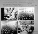 Contact sheet with images of Cramerton Mills textile plant.