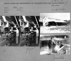 Contact sheet with multiple images of cotton baling.