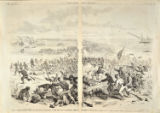 Engraving of the Chicamacomico Races from Frank Leslie's Illustrated Newspaper, Nov. 2, 1861