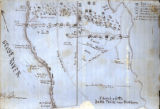 Map of New Bern battle, 1862, from the Henry Toole Clark Private Collection Scrapbook