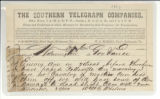 Telegram: William Henry Chase Whiting to Governor Zebulon Baird Vance, July 6, 1863.