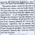 Obituaries for Henry Lawson Wyatt from The Weekly Raleigh Register, 19 June 1861 and 26 June 1861