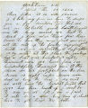 Letter: George L. Cunningham to George L. Cunningham, Sr., April 21, 1862