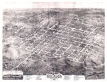 Bird's eye view map of Raleigh, 1872