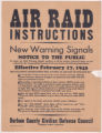 Air Raid Instructions