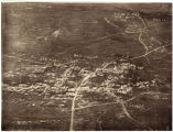 [Annotated aerial photograph depicting Bellicourt, Riqueval, Wauroy, etc.]