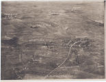 [Annotated aerial photograph depicting Bellicourt, Cabaret Wood Farm, Canal Tunnel, etc.]