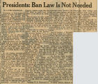 Presidents: ban law is not needed