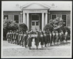 Palmer Institute Class of 1942, outside Kimball Hall in the Triangle of Achievement