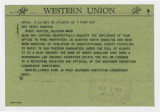 Telegram: Martin Luther King Jr. to Gov. Terry Sanford, November 1, 1962