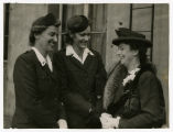 Annie Laurie Burton and coworker meeting the wife of Australian Prime Minister