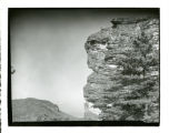 Ranger at the top of Hanging Rock, circa 1950