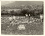 Black Mountain College 'Supine Dome' designed by Buckminster Fuller and constructed from Venetian...