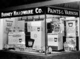 Window display of appliances at Burney Hardware Co., circa 1950s.