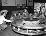 Boy scouts visit Walters Hydroelectric Plant, Waterville, N.C., circa 1950s-1960s.