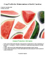 Crop profile for watermelons in North Carolina