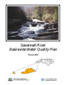 Savannah River Basin water quality plan.