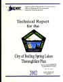 Technical report for the city of Boiling Spring Lakes thoroughfare plan