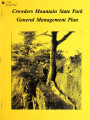 General management plan for Crowders Mountain State Park
