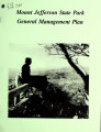 General management plan for Mount Jefferson State Park