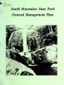 General management plan for South Mountains State Park