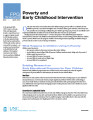 Poverty and early childhood intervention