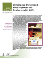 Developing structured work systems for students with ASD