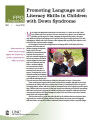 Promoting language and literacy skills in children with Down syndrome