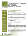Individuals with Disabilities Education Act : state achievements, challenges, and implications