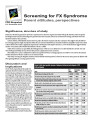 Screening for FX syndrome : parent attitudes, perspectives