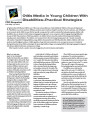 Otitis media in young children with disabilities - practical strategies