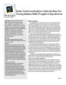 Early communication intervention for young males with fragile X syndrome