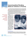 Improving early reading skills for children in poverty