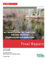 NC Ecosystem Enhancement Program : nutrient offset actual cost pricing method : stakeholder...